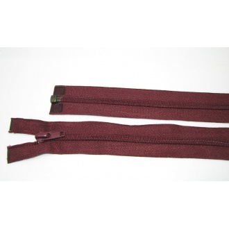 Zips špirála deliteľný 5mm - dĺžka 50cm, farba bordová