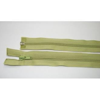 Zips špirála deliteľný 5mm - dĺžka 50cm, farba svetlo zelená
