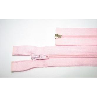 Zips špirála deliteľný 5mm - dĺžka 50cm, farba svetlo ružová