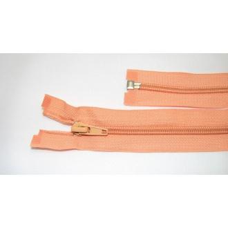 Zips špirála deliteľný 5mm - dĺžka 55cm,pomarančový