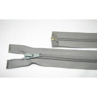 Zips špirála deliteľný 5mm - dĺžka 55cm,svetlo šedá