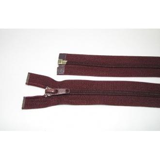 Zips špirála deliteľný 5mm - dĺžka 55cm, tmavá bordová