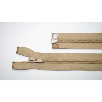 Zips špirála deliteľný 5mm - dĺžka 55cm,béžová