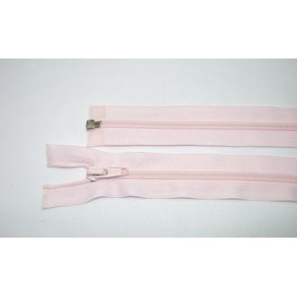 Zips špirála deliteľný 5mm - dĺžka 55cm,svetlo ružová
