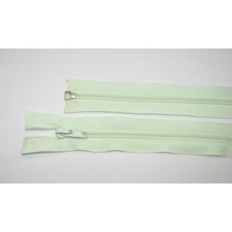 Zips špirála deliteľný 5mm - dĺžka 55cm,svetlo zelená