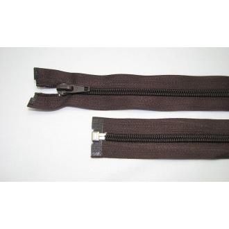 Zips špirála deliteľný 5mm - dĺžka 55cm,tmavo hnedá