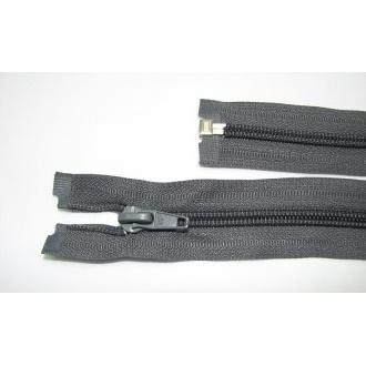 Zips špirála deliteľný 5mm - dĺžka 55cm,tmavo šedý