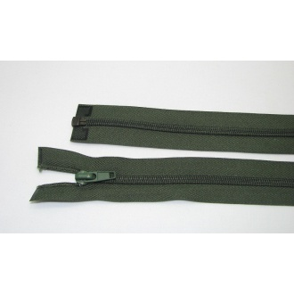 Zips špirála deliteľný 5mm - dĺžka 55cm,tmavo zelená
