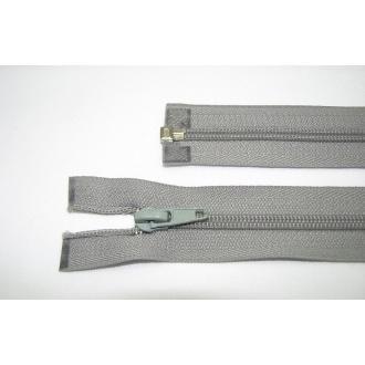 Zips špirála deliteľný 5mm - dĺžka 60cm,svetlo šedá