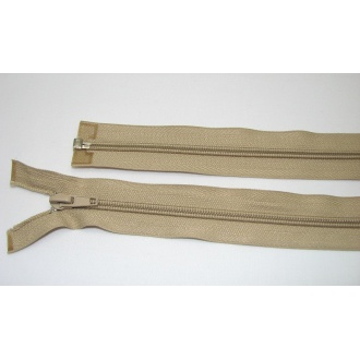 Zips špirála deliteľný 5mm - dĺžka 60cm,béžový