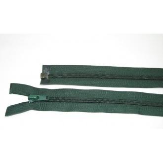 Zips špirála deliteľný 5mm - dĺžka 60cm,tmavá zelená výrazná