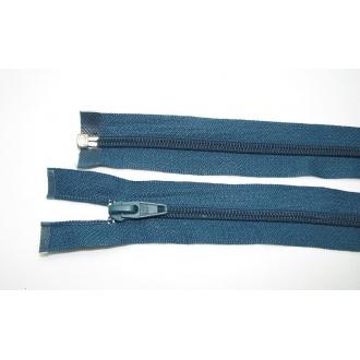 Zips špirála deliteľný 5mm - dĺžka 60cm,tmavo tyrkysová