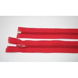 Zips špirála deliteľný 5mm - dĺžka 60cm,červená
