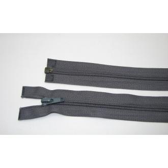 Zips špirála deliteľný 5mm - dĺžka 65cm,tmavo šedá