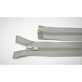 Zips špirála deliteľný 5mm - dĺžka 65cm,svetlo šedá