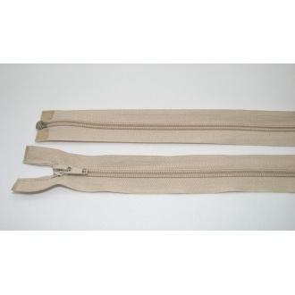 Zips špirála deliteľný 5mm - dĺžka 65cm, béžová