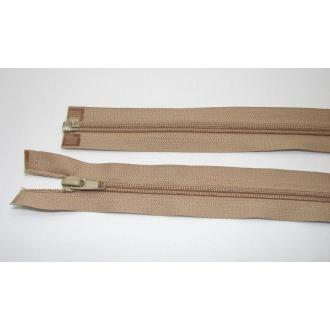 Zips špirála deliteľný 5mm - dĺžka 65cm,béžová tmavá
