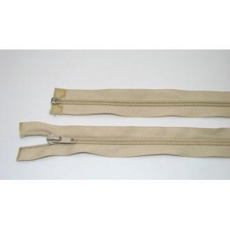 Zips špirála deliteľný 5mm - dĺžka 65cm,svetlo béžová