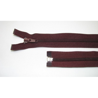 Zips špirála deliteľný 5mm - dĺžka 65cm, bordová