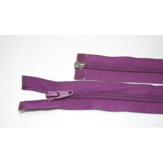 Zips špirála deliteľný 5mm - dĺžka 65cm,fialová tmavá