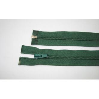 Zips špirála deliteľný 5mm - dĺžka 65cm,tmavo zelená