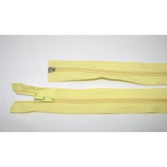 Zips špirála deliteľný 5mm - dĺžka 65cm,svetlo žltý