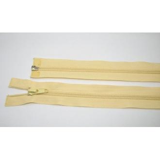Zips špirála deliteľný 5mm - dĺžka 65cm,smotanovo žltý