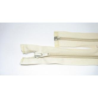 Zips špirála deliteľný 5mm - dĺžka 65cm,smotanový