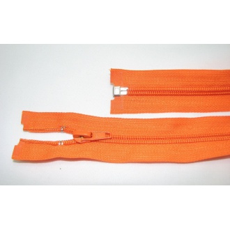 Zips špirála deliteľný 5mm - dĺžka 65cm,oranžový