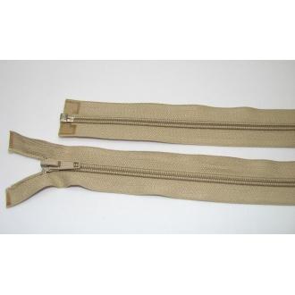 Zips špirála deliteľný 5mm - dĺžka 70cm,béžový