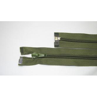 Zips špirála deliteľný 5mm - dĺžka 70cm,olivovo zelený