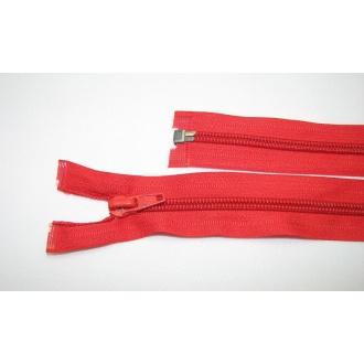 Zips špirála deliteľný 5mm - dĺžka 70cm,svetlo červený
