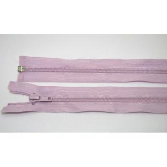 Zips špirála deliteľný 5mm - dĺžka 70cm,svetlo fialový
