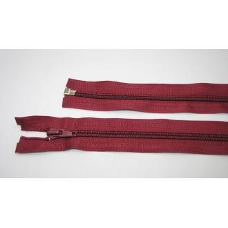 Zips špirála deliteľný 5mm - dĺžka 75cm,svetlo bordová