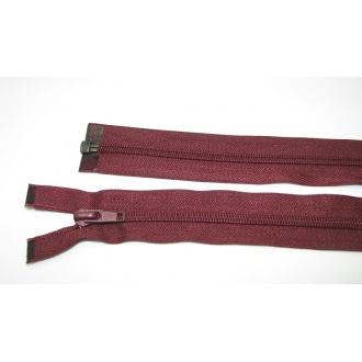 Zips špirála deliteľný 5mm - dĺžka 75cm,tmavo bordová