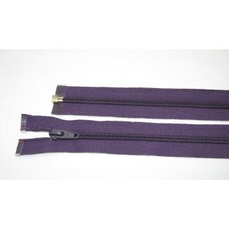 Zips špirála deliteľný 5mm - dĺžka 75cm,tmavo fialová