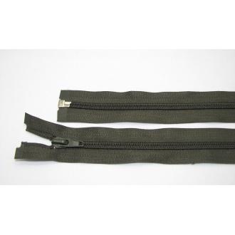Zips špirála deliteľný 5mm - dĺžka 75cm,tmavo zelená