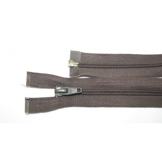 Zips špirála deliteľný 5mm - dĺžka 75cm,tmavo hnedozel.