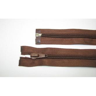 Zips špirála deliteľný 5mm - dĺžka 75cm,hnedá