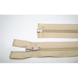 Zips špirála deliteľný 5mm - dĺžka 75cm,svetlo béžová