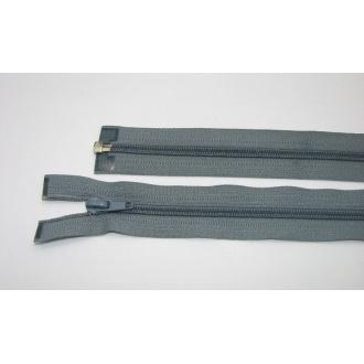 Zips špirála deliteľný 5mm - dĺžka 75cm,zelenkastošedý