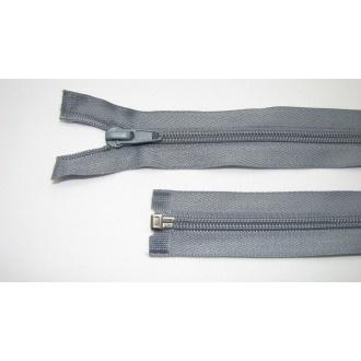 Zips špirála deliteľný 5mm - dĺžka 80cm,šedý