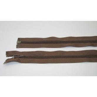 Zips špirála deliteľný 5mm - dĺžka 80cm,tmavo hnedý
