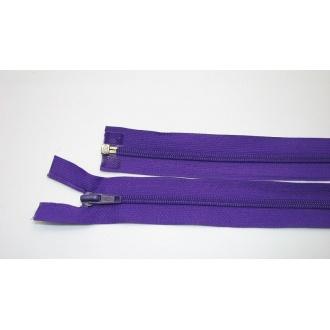 Zips špirála deliteľný 5mm - dĺžka 80cm,tmavo fialový