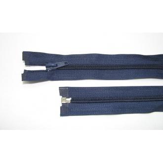 Zips špirála deliteľný 5mm - dĺžka 80cm,tmavo modrý