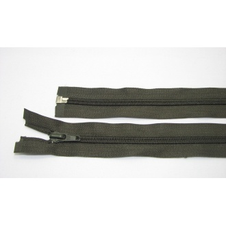 Zips špirála deliteľný 5mm - dĺžka 80cm,tmavý khaki zelený