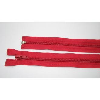 Zips špirála deliteľný 5mm - dĺžka 85cm,červený