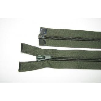 Zips špirála deliteľný 5mm - dĺžka 90cm,tmavo zelený