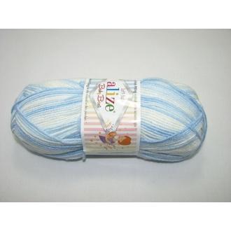 Alize Baby Best batik 100g -  6669 melír modrý
