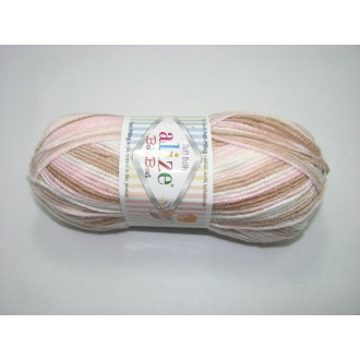Alize Baby Best batik 100g - 6656 melír ružový
